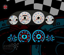 FIAT PUNTO GT TURBO MK1  1994-99 WHITE DIAL KIT PLASMA GLOW DASH SPEEDO CLOCKS