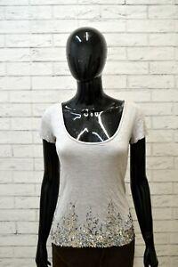 PATRIZIA-PEPE-Donna-Maglia-Maglietta-Taglia-S-Shirt-Woman-Manica-Corta-Grigio