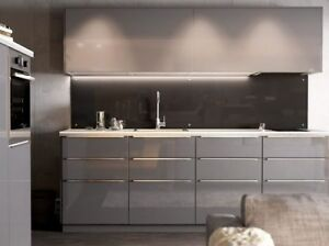 Merveilleux Image Is Loading 1 Ikea Ringhult Gloss Grey For Sektion Kitchen