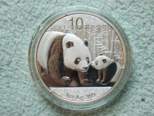 2011 Chinese Silver Panda 10 Yuan 1 OZ BU