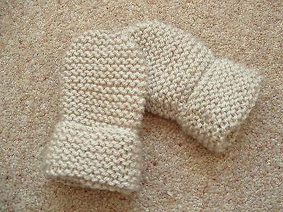 Dedito Children's Hand Knitted Muffole, Beige, Lana Acrilica, 2-4 Anni Nuovo-mostra Il Titolo Originale Lucentezza Luminosa