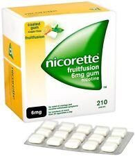 Nicorette 6mg Gum Nicotine 210 Pieces - Fruit Fusion Flavour (03/2018)