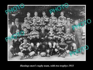 OLD-LARGE-HISTORIC-PHOTO-OF-HASTINGS-RUGBY-UNION-TEAM-1933-NEW-ZEALAND