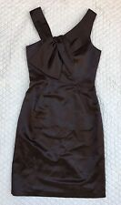 MILLY OF NEW YORK Formal Dress Chestnut Brown Assymetrical Sheath sz 0 NWT $385