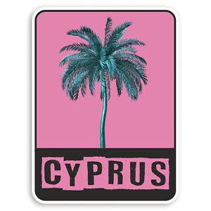 2 x 10cm Rosa Cipro adesivi in vinile-Viaggi Bagagli Tropicale Adesivo #31342