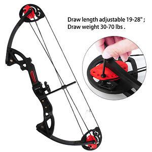 USA-MAK-Teens-Compound-Bow-Set-Draw-Weight-15-29lbs-W-3pcs-Arrow-Hunting-Target