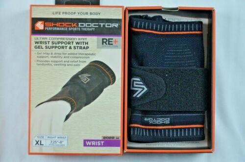 Compression  Wrist Support with Soft Gel pads Adjustable Strap Shock Doctor New