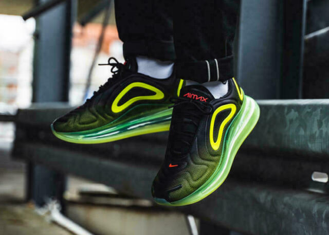 Nike Air Max 2011 Leather Men's Running Shoes BlackVolt