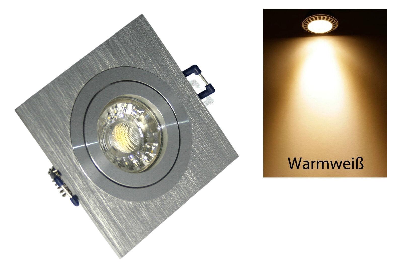 Mantas spot emisor lenard plata 230v gu10 gu10 gu10 cob 7w = 52w High Power LED regulable 7bc5d4