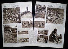 ONA SELK'NAM SELKNAM PEOPLE OF TIERRA DEL FUEGO 2pp PHOTO ARTICLE 1941