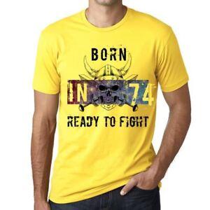 74-Ready-to-Fight-Hombre-Camiseta-Amarillo-Regalo-De-Cumpleanos-00391
