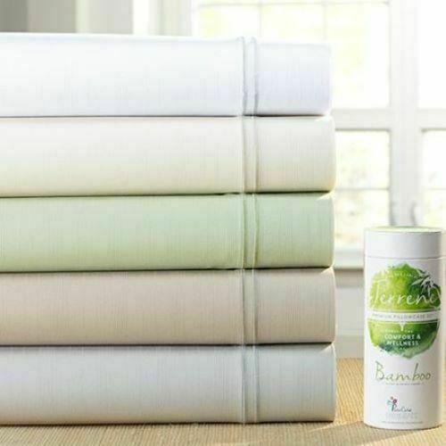 PureCare by Fabrictech Elements Bamboo Terrene Sheet Set Twin Sage