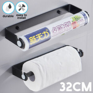 32CM-Kitchen-Roll-Hanging-Stand-Wall-Mount-Paper-Towel-Holder-Aluminum-Rack