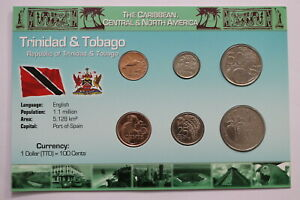 North & Central America Coins: World Kind-Hearted Trinidad & Tobago Sealed Coin Set With Coa A99 Can102 Sturdy Construction