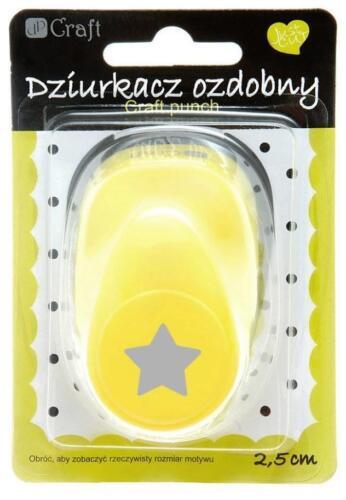 Großer Motivlocher Stanzer Punch 2,5 cm Star Stern Kreativ Basteln