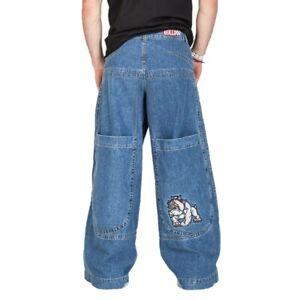 JNCO-BULLDOG-Men-039-s-Baggy-34-034-Wide-Leg-Blue-Jeans-Size-40x33-Vintage-90-039-s-NWT