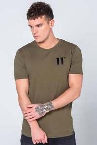 11-Degrees-Mens-Core-T-Shirt-Crew-Neck-Khaki