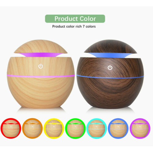USB Aroma Essential Oil Diffuser Ultrasonic Humidifier Air Purifier 7 Color LED