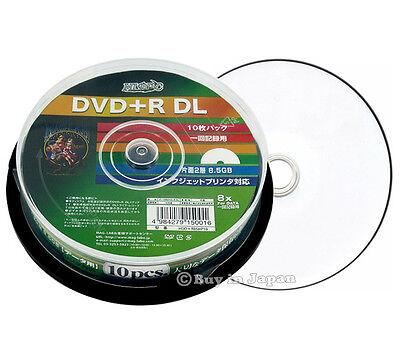 10 Hi-Disc DVD+R DL for Data 8.5GB 8x Speed DVD Inkjet Printable Sealed Discs
