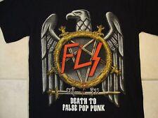 """FLS """"Death to False Pop Punk"""" Eagle Punk Rock Tour Black T Shirt S"""