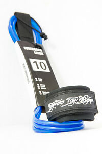 Surfboard-Leash-10-039-NEW-Stand-UP-Paddle-Board-Leash-SUP-Blue