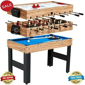 Pool-Table-Combo-Billiards-Hockey-Foosball-Sturdy-Game-Kids-Family-Accessories