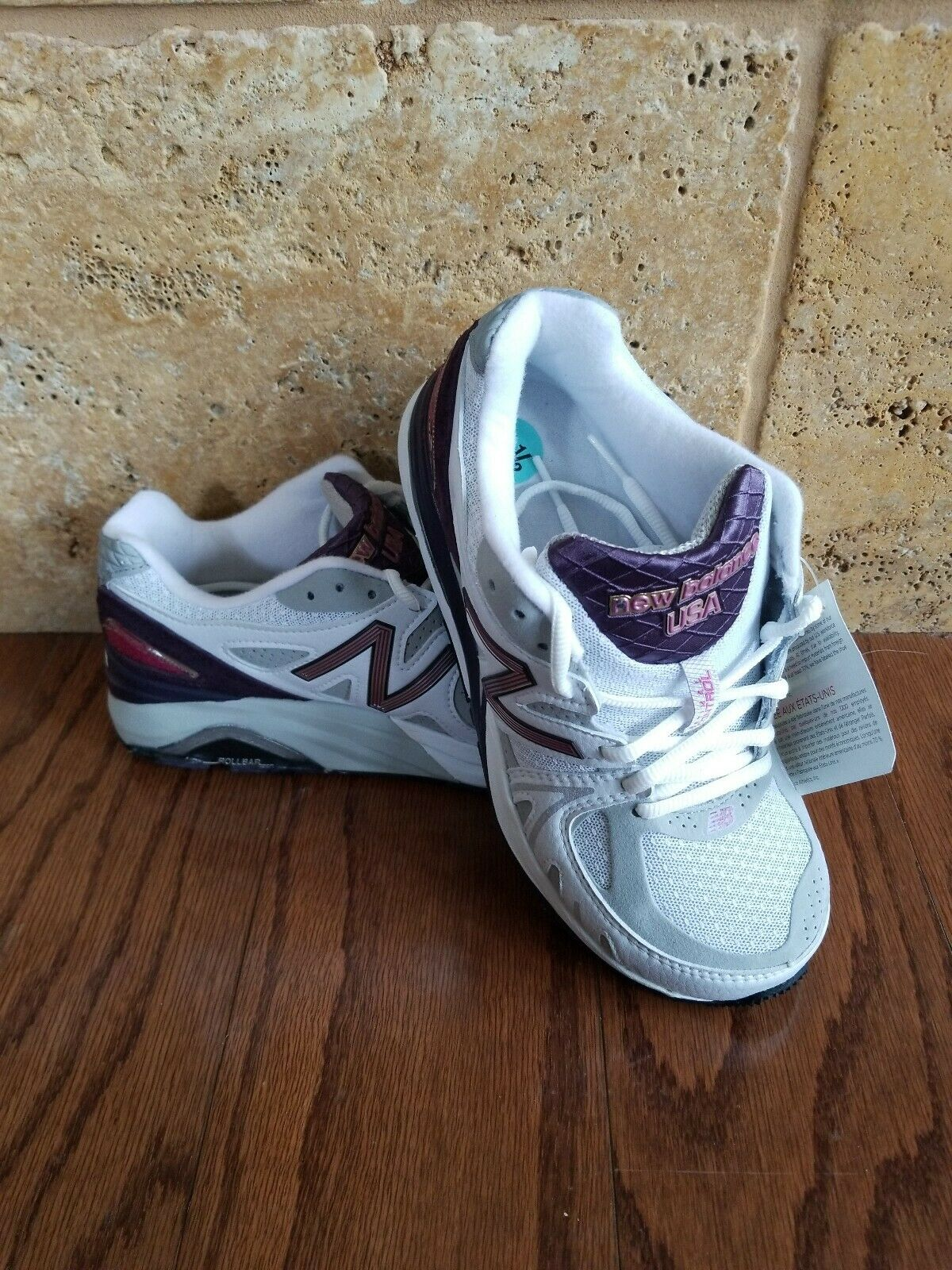 NEW New Balance W1540WP1 Made in USA Running White Purple Women shoes SZ 5.5 D