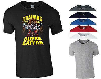 Goku/'s Gym Dragon Ball T Shirt Z GT Super God SSJ Vegeta Freeza Training MMA