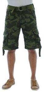 7c5b486955db New Men s Jordan Craig Premium Olive Green Camo Cargo Shorts Size 30 ...