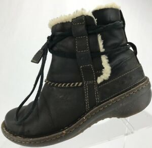 ea57880a236 UGG Australia Cove Shearling Lined Ankle Winter Leather Boots Womens ...