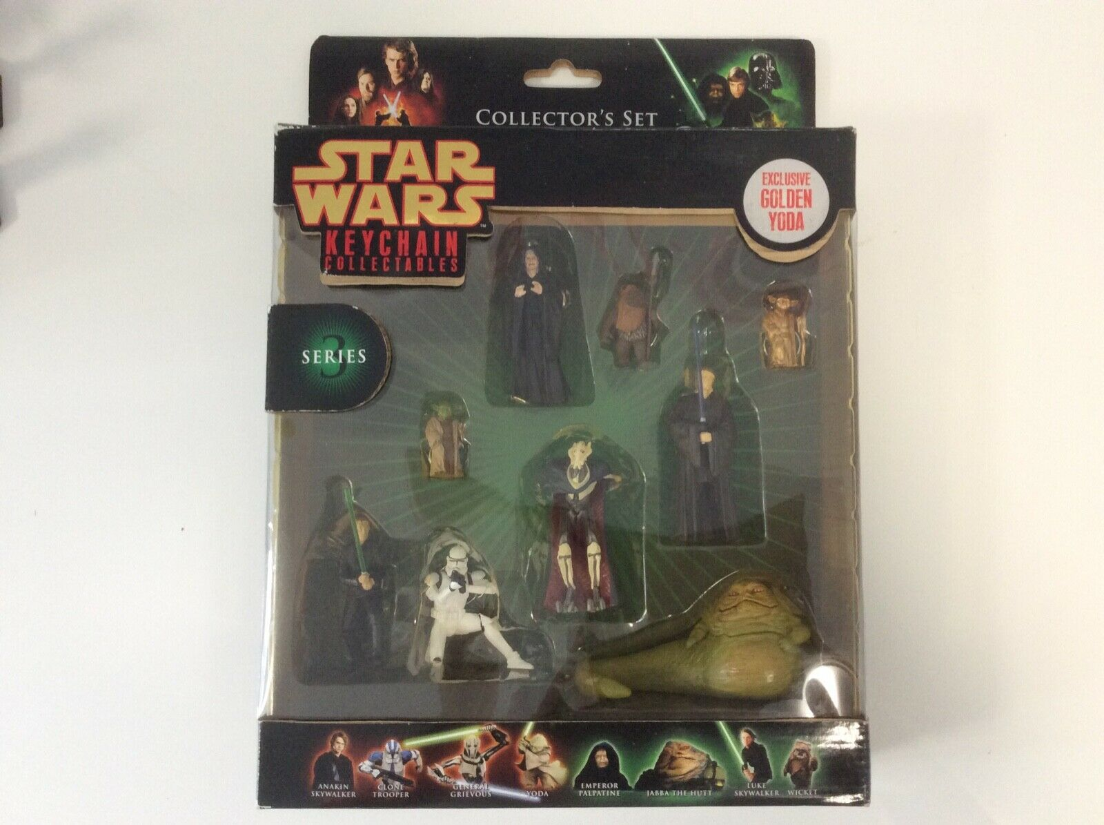 2008 Star Wars 9 Key Chain Collectables Series 3 Collector' Set MIB