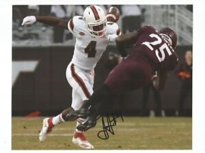 29283d814360 Image is loading JAQUAN-JOHNSON-Signed-Autographed-MIAMI -HURRICANES-8x10-Photo-