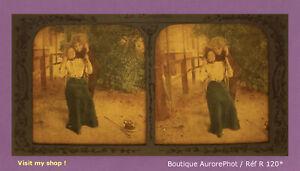 STEREO-VIEW-PANOPTIQUE-COLOR-LES-FIANCAILLES-COUPLE-FEMMES-COSTUMEES-R120
