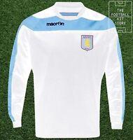 Aston Villa Sweater - Genuine Macron Training Wear - White - Flash Sale