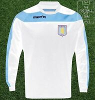 Aston Villa Sweater - Genuine Macron Training Wear - White - Flash Sale
