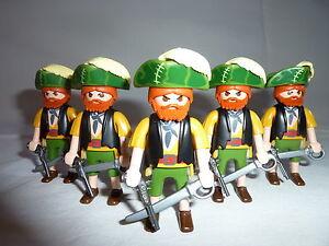 Playmobil personnage bateau armes mer port oc an soldat lot 5 pirates ebay - Playmobil bateau corsaire ...