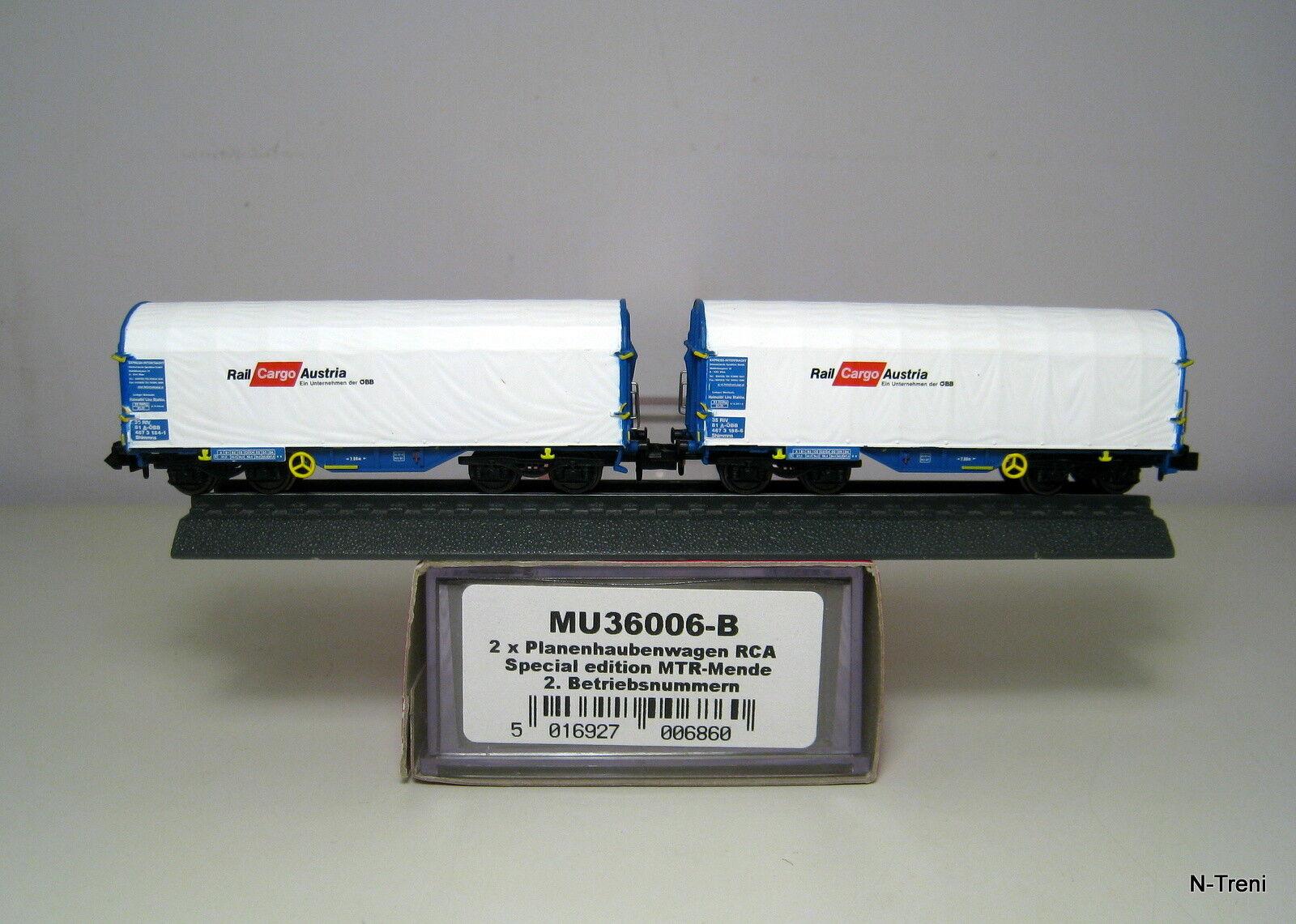 Modellbahn Union N MU36006-B - Set di 2 Cocheri Shimmns Rail Cochego Austria OBB
