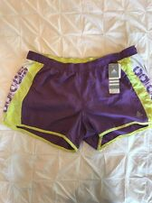 "Womens Adidas Pacer Print Running Shorts Run Short Purple XL 3"" Inseam X Large"