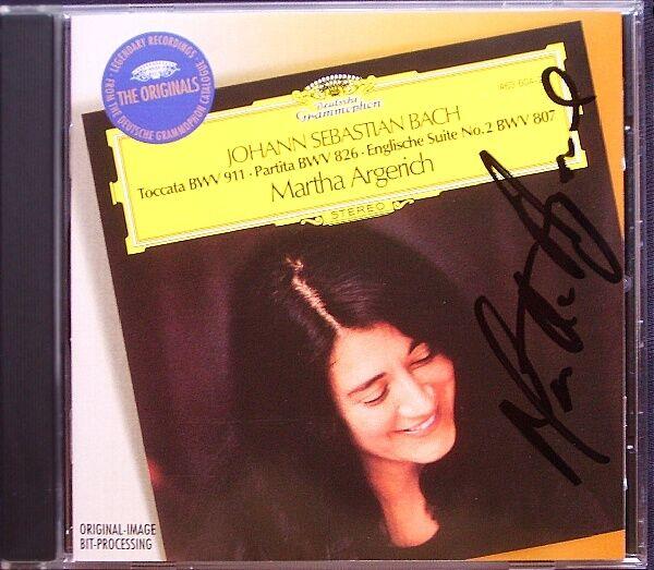 Martha ARGERICH Signiert BACH English Suite No.2 Partita No.2 Toccata BWV 911 CD