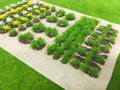 Static Grass Tufts Model Scenery Garden Allotment Crops Set 02 Spring Flowers