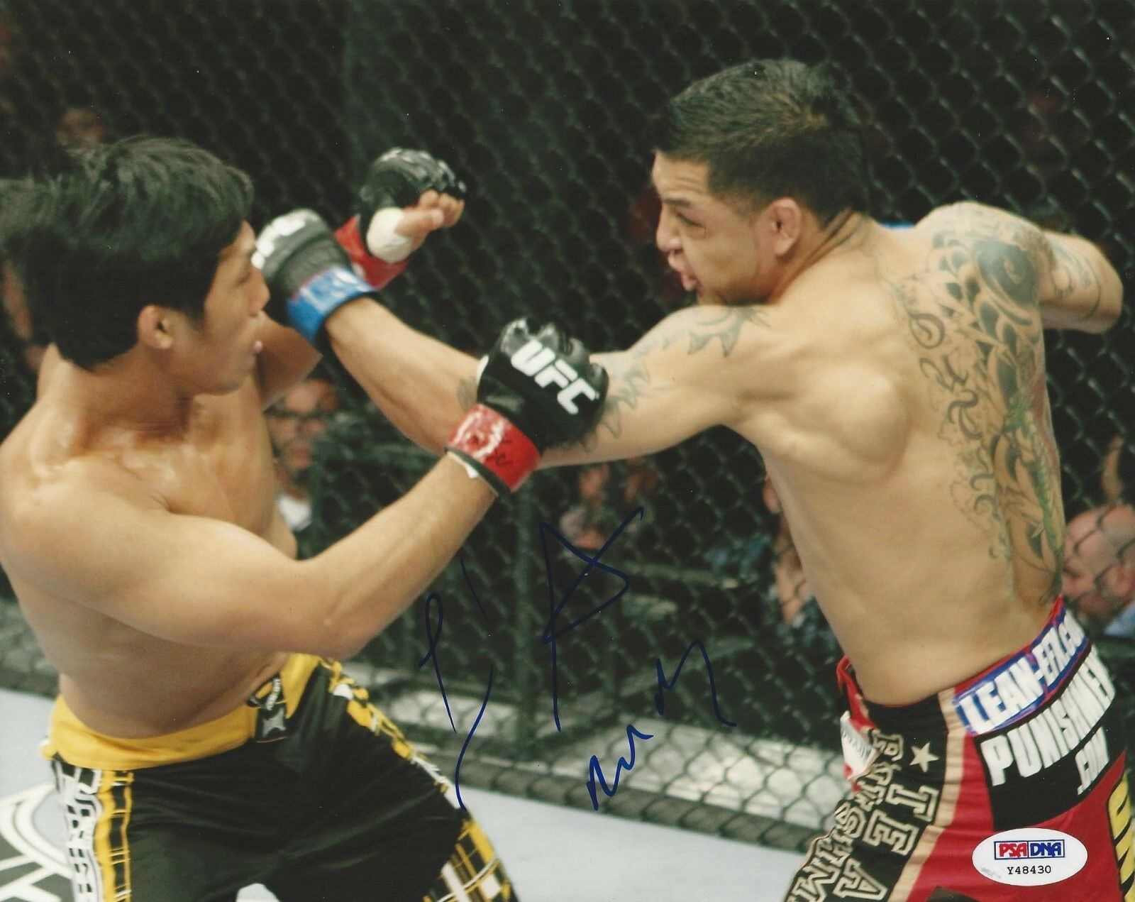 Leonard Garcia UFC Fighter signed 8x10 photo PSA/DNA # Y48430