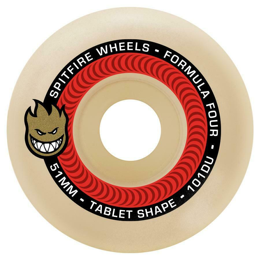 Spitfire Formula Four Tablet 99a Skateboard Wheels White//Blue