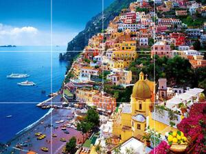 Details About 24 X18 Tile Medallion Positano Amalfi Coast Italy Beach Ocean Sea Backsplash