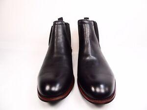 628ff9b361b Image is loading Vance-Co-Landon-Mens-Black-Ankle-Boots-Size-