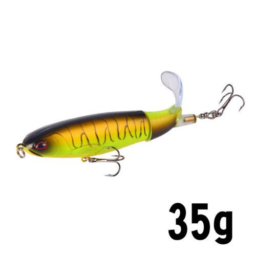 13//35g Minnow Fishing Lure Rotating Tail Whopper Popper Topwater Swim Crankbait