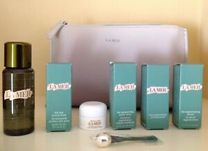 LA-MER-8PC-Set-Moist-Cream-Eye-Concentrate-Concentrate-Regen-Serum-BAG-amp-MORE