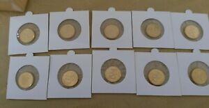 Lot-de-10c-FINLANDE-2001-10-pieces-10-cent-UNC