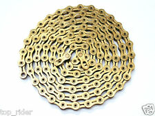 KMC X10SL Ti-N Gold 10 Speed XSP Bike Chain 114 Links w/ Missing Link