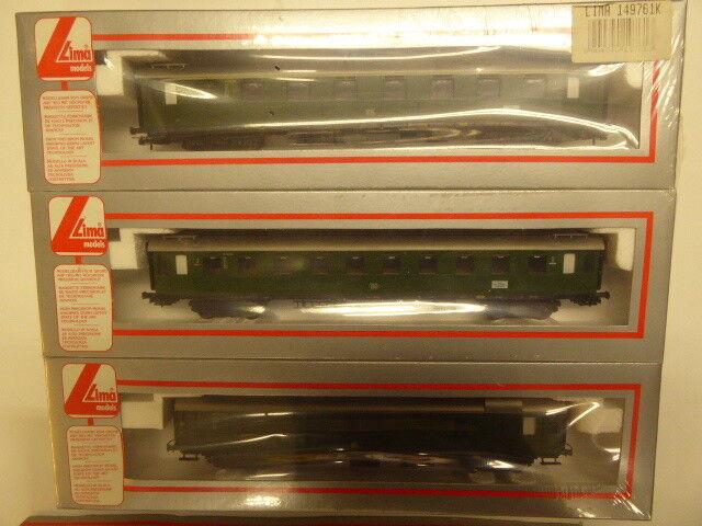 Lima 149761K,3 teiliges Zugset der DB,eingeschwhitet,unbespielt