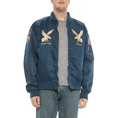 a2efa3c077e New Men`s Schott NYC MA-1 Nylon Flight Jacket Style 9722 MSRP 200